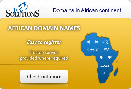 African domain names Easy To Register. Trustee service provided where required.