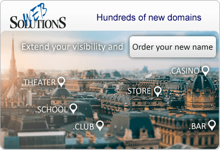 Extend your visibility and Order your new name