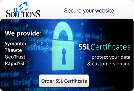 SSL Certificates protect your data & customers online