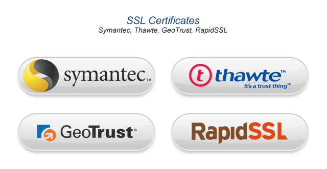 Our available SSL providers