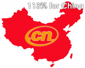 chinese domains .cn growth