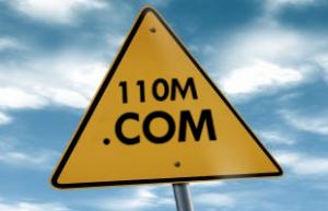 110 million registrations of .COM domains