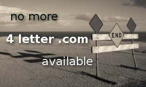 It appears that recently the Internet has run out of four-letter domain names within .COM extension. Not only does it refer to four-letter words that can be ...