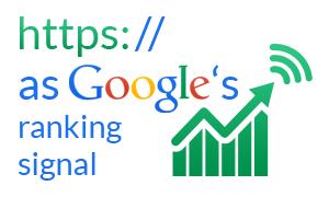 HTTPS as Google's ranking signal