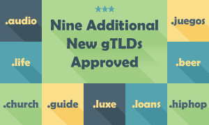 9 more gTLDs approved