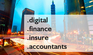 First day registrations for .Digital .Finance .Insure and .Accountants