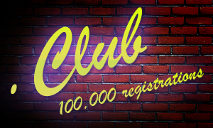 Over 100,000 .CLUB registrations