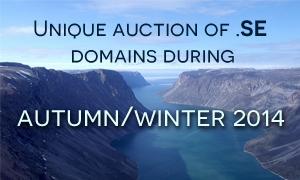 Unique auction of .SE domains during autumnwinter 2014