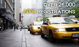 .NYC registrations on the first day of general availability