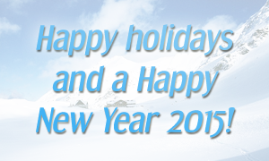 Happy holidays and a Happy New Year 2015!