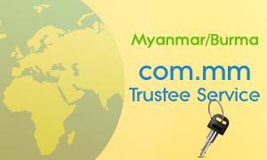 Myanmar Burma, COM.MM trustee service