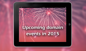 Upcoming domain events in 2015