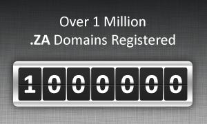 over 1 million .ZA domain registration