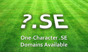 One-Character .SE Domains Available for Registration