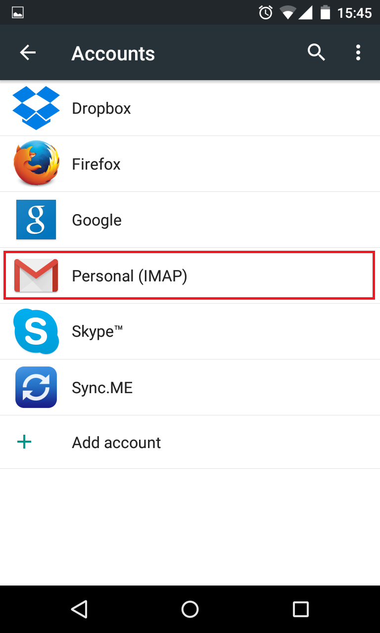 How to change e-mail password in Android |