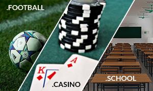 3 new gTLDs school football casino