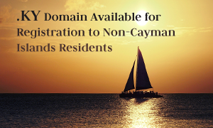 KY Domain Available for Registration to Non-Cayman Islands Residents