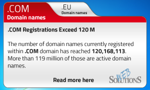COM Registrations Exceed 120 M