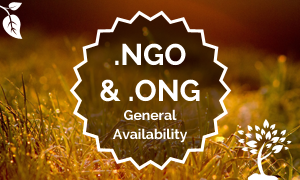 General Availability for .NGO and .ONG