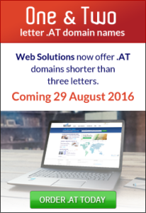 one & two letter .AT domain names