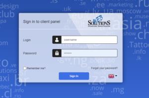 login panel web-solutions